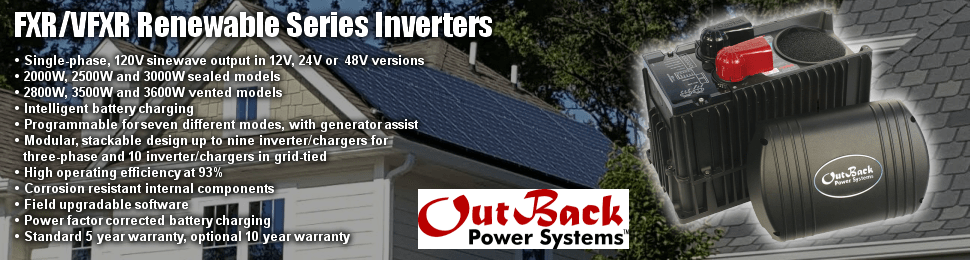Outback Power Inverters equals outstanding performance.