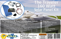The Traveler 160 Watt Expandable Solar Panel Kit TRVLR-160-D (For Dealers Only)