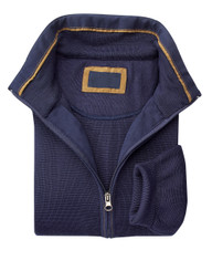 Mens Navy Zip-Up Sweater