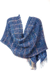 Multi-Colored Knitted Scarf