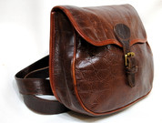 Mulberry Cartridge Saddle Bag in Rich  Brown Crocodile Print Leather