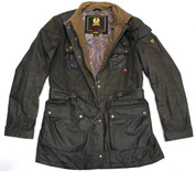 "Belstaff  Stylish Wax Quilted Jacket Green  Euro 48.. 36"" Chest"