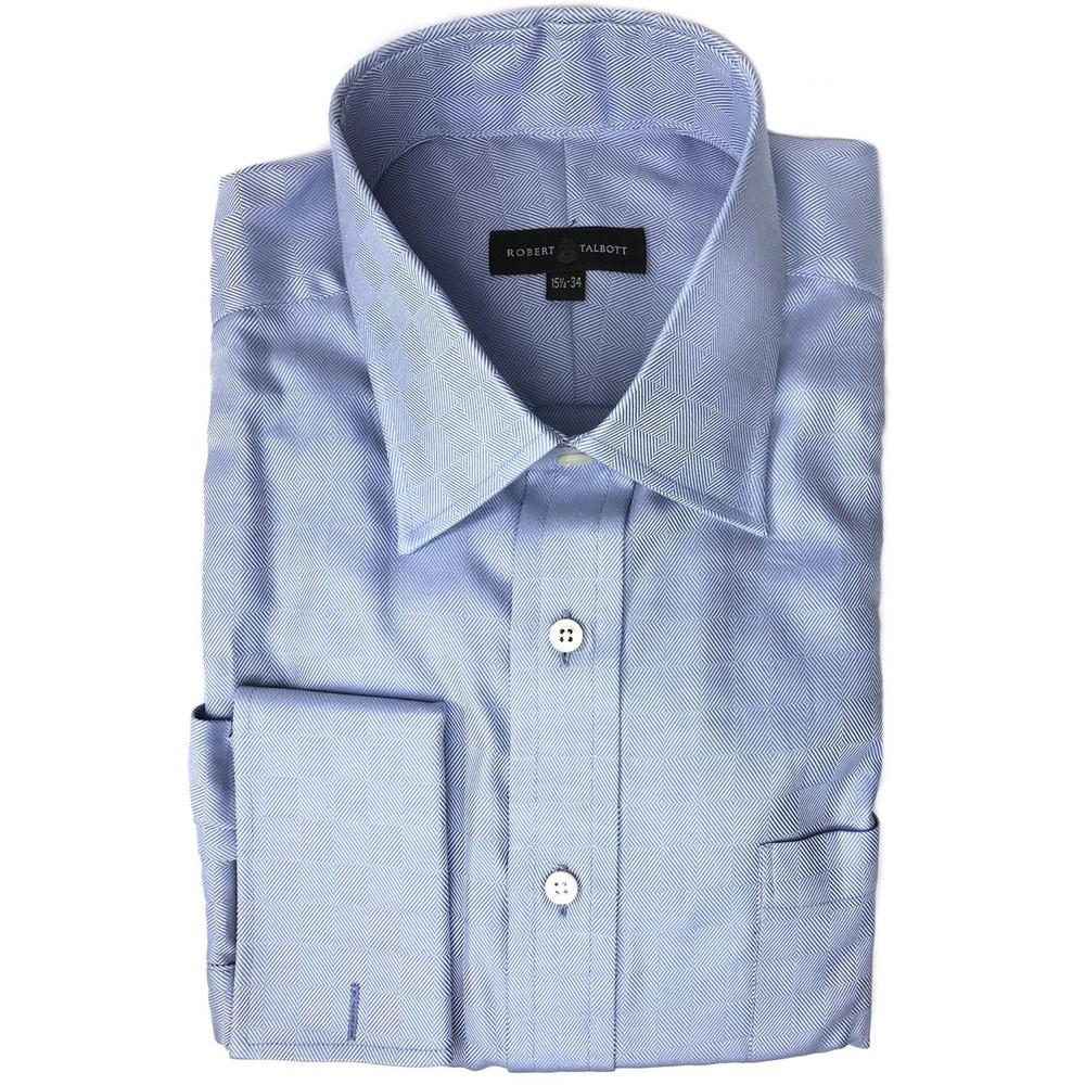 Blue parquet dress shirt size 15 1 2 34 by robert for Robert talbott shirts sale