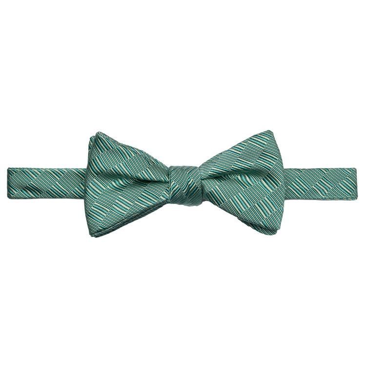 Best of Class Jade Tonal 'Spanish Bay' Hand Sewn Woven Silk and Cotton Bow Tie by Robert Talbott