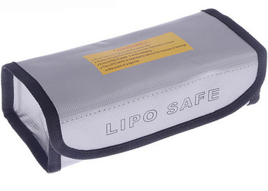 LiPo Safe Charging / Storage Bag 2 Cell Silver