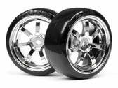 HPI 4739 - T-Drift Tyre 26mm Rays 57S-Pro Wheel Chrome 2 PCS
