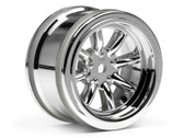 HPI 3812 - Vintage 8 Spoke Wheel 31mm S/Chrome 6mm Offset