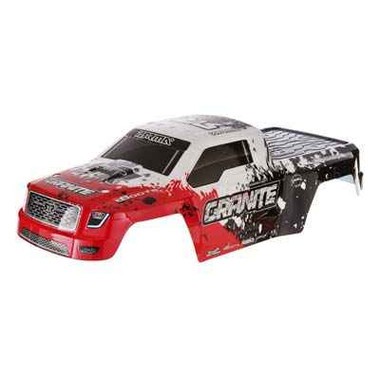 ARRMA 402085 Body Red Painted w/Decals Granite 2014 Mega