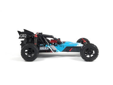 The ARRMA RAIDER benefits from a super-tough short wheelbase composite Chassis, that can be upgraded to include Aluminium TVP Side Rails for even greater stiffness and strength.