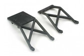 Traxxas 3623 Skid plates, front & rear (black)