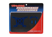 Traxxas 6839X Shock Tower, front, 7075-T6 aluminium (blue-anodized) (1) / body mount bracket (1)