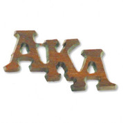 AKA Large Wooden Lapel Pin