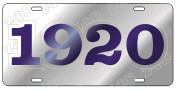 ZPB Year License Plate - Silver