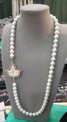 Pearls & Ivy Necklace - White