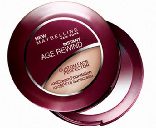 Maybelline Instant Age Rewind Custom Face Perfector Cream Compact Foundation, SPF 18