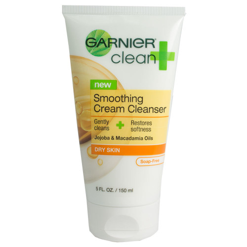 Garnier Clean and Smoothing Cream Cleanser for Dry Skin