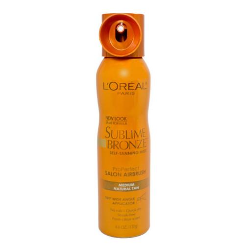 Loreal Sublime Bronze Pro Perfect Salon Airbrush Self-Tanning Mist - Medium Natural Tan