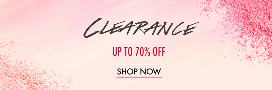 Shop our clearance section and save up to 70% on your favorite makeup!