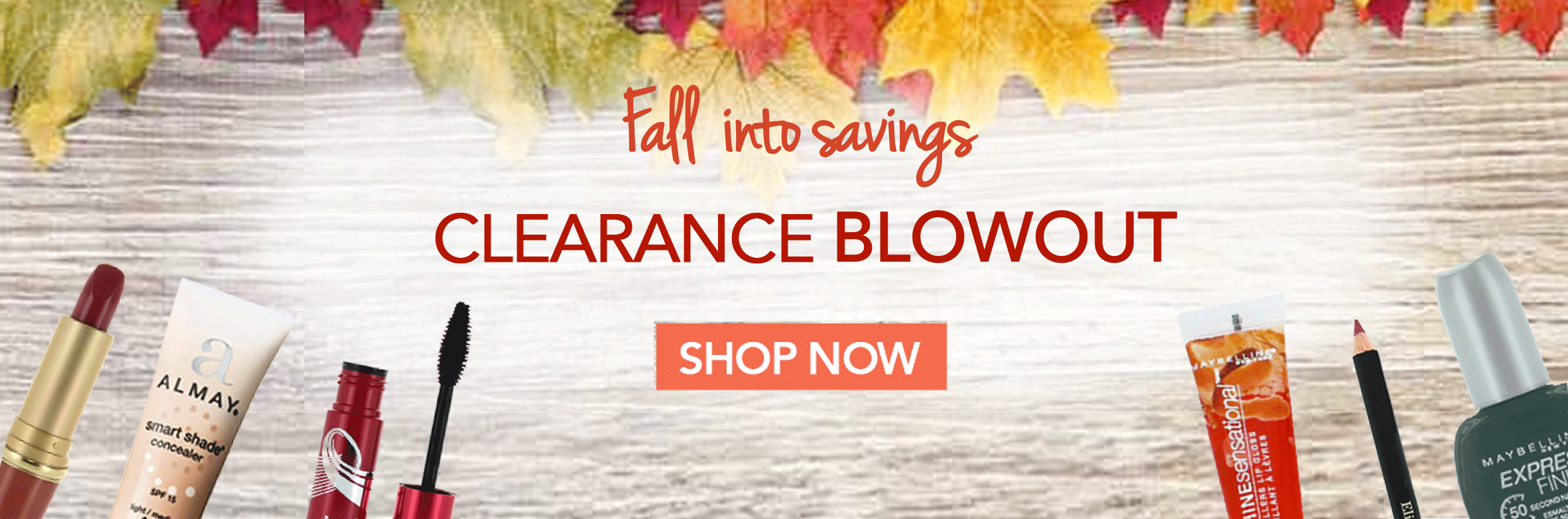 Shop our Fall into Savings clearance sale