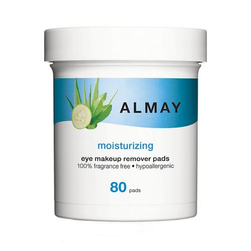 Almay Moisturizing Eye Makeup Remover Pads, 80 pads