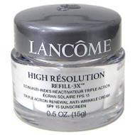 Lancome High Resolution Refill-3X Triple Action Renewal Anti-Wrinkle Cream, .5 oz.