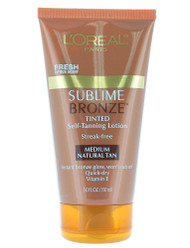 Loreal Sublime Bronze Tinted Self-Tanning Lotion 5 Fl Oz - Medium Natural Tan
