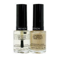 Revlon Colorstay Gel-Smooth Base Coat + Gel-Shine Top Coat Longwear Nail Enamel Combination