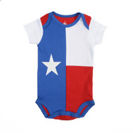 Botton Snap Onesie that is the State of Texas Flag