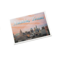 """2 1/2"""" X 3 1/2"""" Magnet with Austin Cityscape at Sunset by Local Photographer Dennis Nauert"""