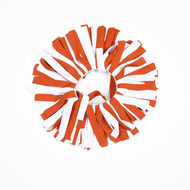 Burnt Orange & White Pomchie for Pony Tail or Wristlet