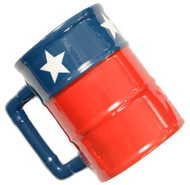 Texas Flag Oil Barrel Mug