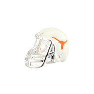 Sterling Silver UT Enamel Football Helmet Bead (s80350)