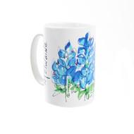 Kathleen McElwaine Bluebonnet Whimsy Mug