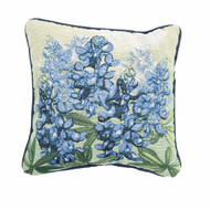 Bluebonnet Tapestry Corded Pillow