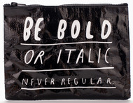 Blue Q Bold Italic Zipper Pouch