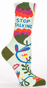 Blue Q Stop Talking Crew Socks