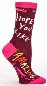 Blue Q Hope You Like Amazing Crew Socks