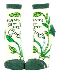 Blue Q Plants Get Me Ankle Socks