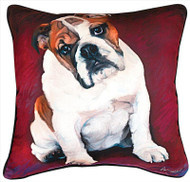 MWW Bulldog Baby Pillow