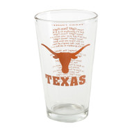 """Texas Fight"" 16oz Pint Glass"