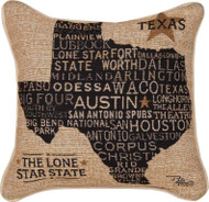 Texas Word Tapestry Pillow