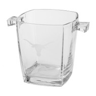 Etched Longhorn Glass Ice Bucket