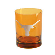 Longhorn Burnt Orange On the Rocks Glass (14oz)