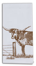 Texas Longhorn Flour Sack Tea Towel