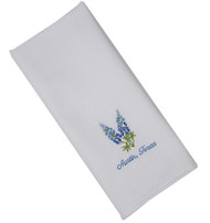 "Bluebonnet Embroidered ""Austin, TX"" Hand Towel"