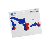 Texas Longhorn Texas Flag Logo Decals (4)