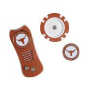 Texas Longhorn Switchfix & Golf Chip Set (In Tin)Ball Marker and Divot Repair Tool