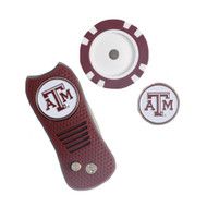 Texas A&M Switchfix & Golf Chip Set (In Tin)Ball Marker and Divot Repair Tool