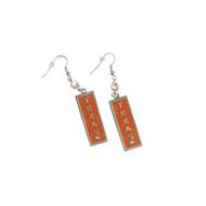 Texas Longhorn Rectangle Wire Earrings