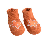 Team Color State of Texas Newborn Booties